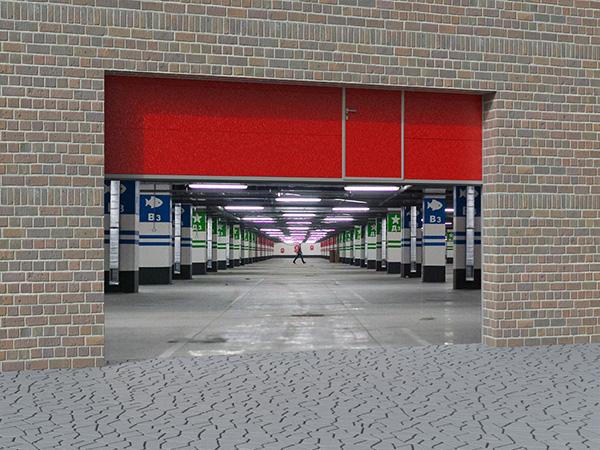 Противопожарные секционные ворота Doorhan